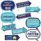 Funny Making Waves – Swimチーム – Swimmingパーティーや誕生日パーティー写真ブース小道具キット – 10 Piece