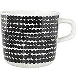 マリメッコ マグカップ コーヒーカップ 200ml 食器 シイルトラプータルハ Siirtolapuutarha ホワイト×ブラック 063292 190 [並行輸入品]