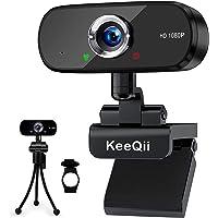ウェブカメラ Webカメラ マイク内蔵 HD1080P 200万画素 90°広角 高画質パソコンカメラ ノイズリダクショ…