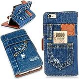 本格デニム iPhone6 / iPhone6s 兼用 手帳型アイフォンケース