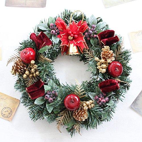 グランドグルー クリスマスリース 造花 直径30cm...
