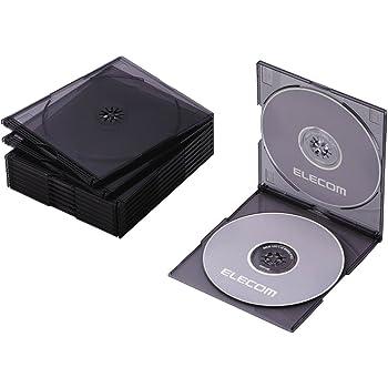 エレコム DVD BD CDケース プラケース スリム 2枚収納 10枚パック クリアブラック CCD-JSCSW10CBK