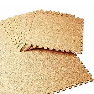 新ジョイント コルクマット 30cm 108枚/6畳セット [ジョイント形状type-B] ジョイントマット (A810-108)