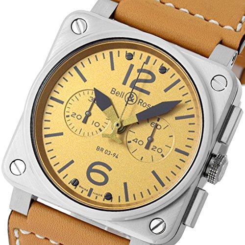 [ベル&ロス] 腕時計BR03-94HA-R クロノグラフ SS/レザー 林時計舗オリジナル 50本限定 ゴールド [中古品] [並行輸入品]