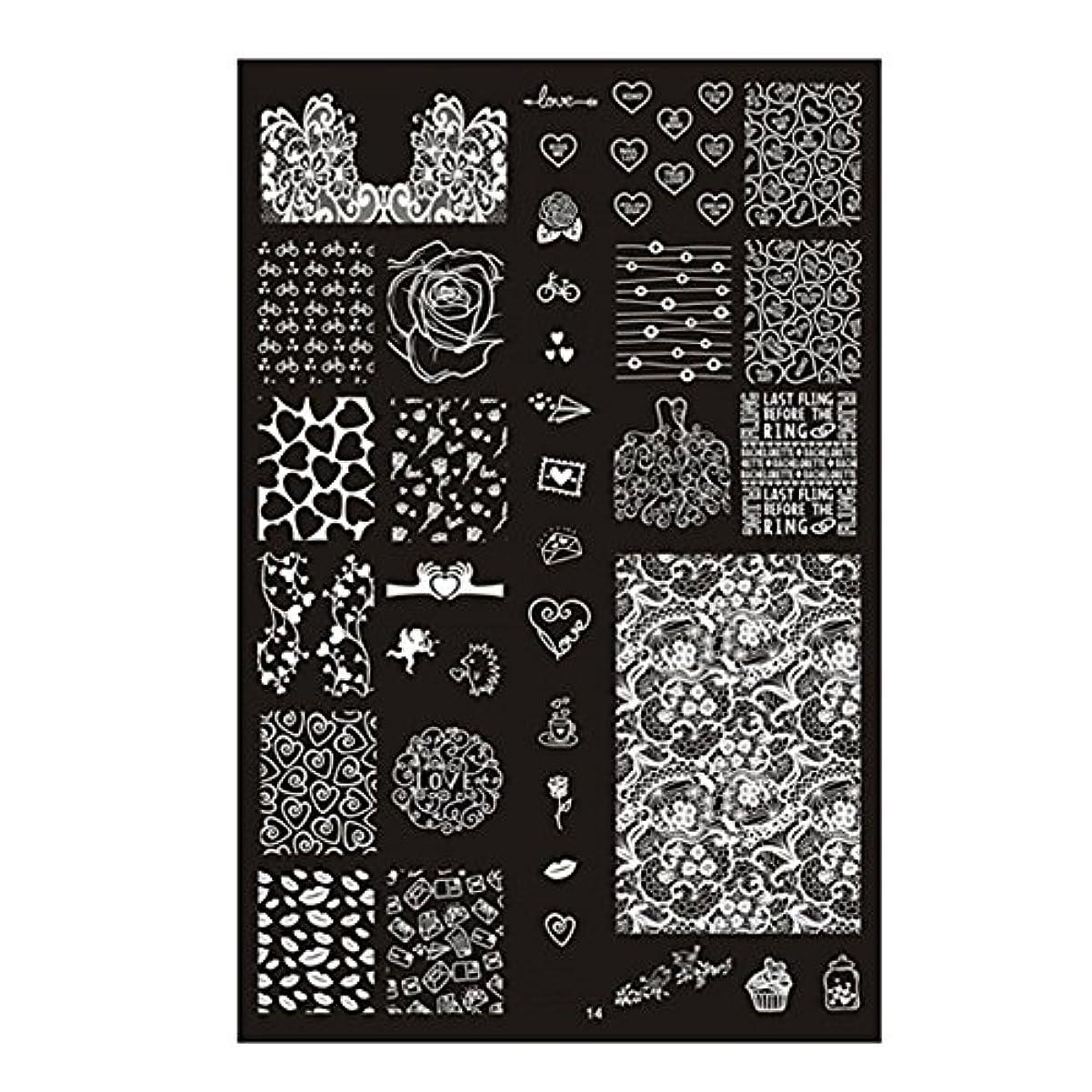 しなやかに付ける魅力的であることへのアピール[ルテンズ] スタンピングプレートセット 花柄 ネイルプレート ネイルアートツール ネイルプレート ネイルスタンパー ネイルスタンプ スタンプネイル ネイルデザイン用品