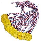 (アクテール)AQ-Terre 金 メダル トロフィー 金杯 銀杯 ごほうび グッズ (金メダル 25個 セット)