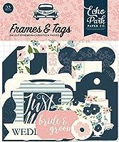 Echo Park Just Married Cardstock Die-Cuts 33/Pkg-Frames & Tags