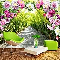 Xbwy カスタム3D写真の壁紙自然風景花トレイル高品質壁壁画リビングルームの背景現代の家の装飾-200X140Cm