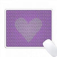 白ニット効果ハートパープルニットエフェクトスクエアグラフィック PC Mouse Pad パソコン マウスパッド