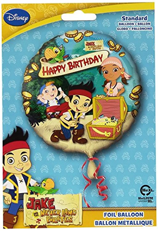 Anagram International HX Jake Neverland Pirates Happy Birthday Party Balloons, Multicolor [並行輸入品]