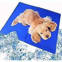 ペット ひんやり マット Wallfire 犬猫用 冷却マット 熱中暑対策 吸熱質材 携帯式 多用途 涼感冷感マット 中小型犬猫用マット 椅子のシット 自宅 オフィスなどにも対応 クールパッド (40*30cm)