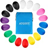 18PCS Plastic Egg Shakers Percussion Musical Egg Maracas Toys with 8 Different Colors