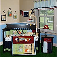 SISI Baby Bedding - All Star 14 PCS Crib Bedding Set Including Lamp Shade by Sisi