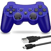PS3 用 ワイヤレスコントローラー 6軸センサー DUAL SHOCK3 ゲームパット 互換対応 USB ケーブル 日…