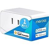 【Apple製品対応】Meross WIFIスマートプラグ スマホのSiriで家電を操作 全主要スマートスピーカー対応 HomeKit, Amazon Alexa, Google Home 1個入り
