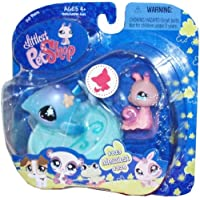 Littlest Pet Shop Messiest Pet Pairs Portable Collectible Gift Set - Snail (#823) and Whale (#824) with Pool Accessory by Hasbro [並行輸入品]