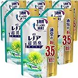 【ケース販売】レノア 超消臭1WEEK 柔軟剤 フレッシュグリーン 詰め替え 約3.5倍(1390mL)×6袋