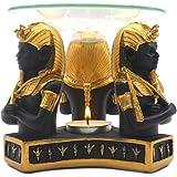Egyptian Pharaoh King Tutankhamen Tea Light Candle Essential Oil Warmer Aroma Diffuser for Spa Yoga Meditation Home Decoratio