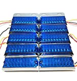 トラック 用 角型 18 LED サイド マーカー ランプ ライト 12V 24V 兼用 10個 セット ホワイト アンバー レッド ブルー グリーン カラー 各種 ダンプ カー トレーラー デコトラ 等 (ブルー)
