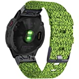 Abanen for Fenix 5/Fenix 6 Pro Nylon Watch Band, 22mm QuickFit Breathable Soft Woven Nylon Wristband Strap for Garmin Fenix 5