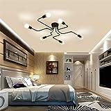 Industrial Vintage Iron Metal Flush Mount Black Art Deco Ceiling Light Retro Fixture Chandeliers Pendant Lamp for Kitchen, Lo
