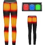 【8つヒーター 】電熱パンツ ヒーターズボン 電熱弾力ズボン 3段温度調整 8時間連続 急速発熱 防寒ズボン 血液循環効…