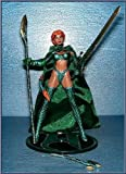 Emerald Medieval Witchblade Action Figure Exclusive Variant - Added Green Cloth Cape plus Metallic Emerald Clothes - 1998 Witchbalde Series by Top Cow