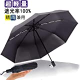 Anbella おりたたみ傘 メンズ 折りたたみ傘 軽量 日傘 男性 折り畳み傘 晴雨兼用 255g 210T高密度NC布 Teflon超撥水 完全遮光 100 UVカット 99.9% UPF50+ 遮熱 熱中症対策 傘 曲面大きい 傘カバー付き