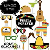 Cinco de Mayo - Mexican Fiesta Photo Booth Props Kit - 20 Count [並行輸入品]
