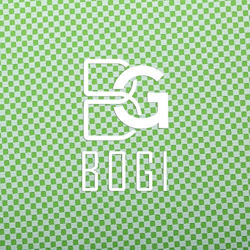 BOGI速冷アイスタオル - 100cm x 30cm - 冷感竹繊維–アイスマフラ、スカーフ、リストバンド、大 きなバンダナとして使えるーヨガ、訓練、フィットネス、旅行、登山、ゴルフ、サッカー、テニス運 動及び他のアウトドア活動には冷たく保つ(グリーン Green)