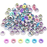 """FoRapid 3mm/1/8"""" Pastel Colour Quicklet Eyelets-Scrapbooking/Birthday Wedding Baby Greeting Holiday Card/Paper Craft/Luggage"""