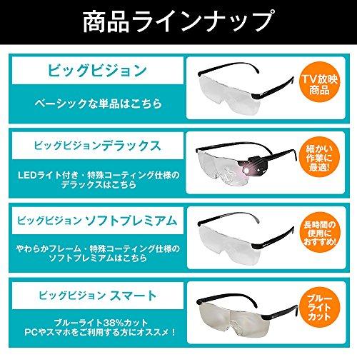 ショップジャパン 【公式】ビッグ ビジョン スマート [メーカー保証1年付] 拡大鏡 1.6倍 眼鏡の上から使える ブルーライト38%カット BGV-AM11