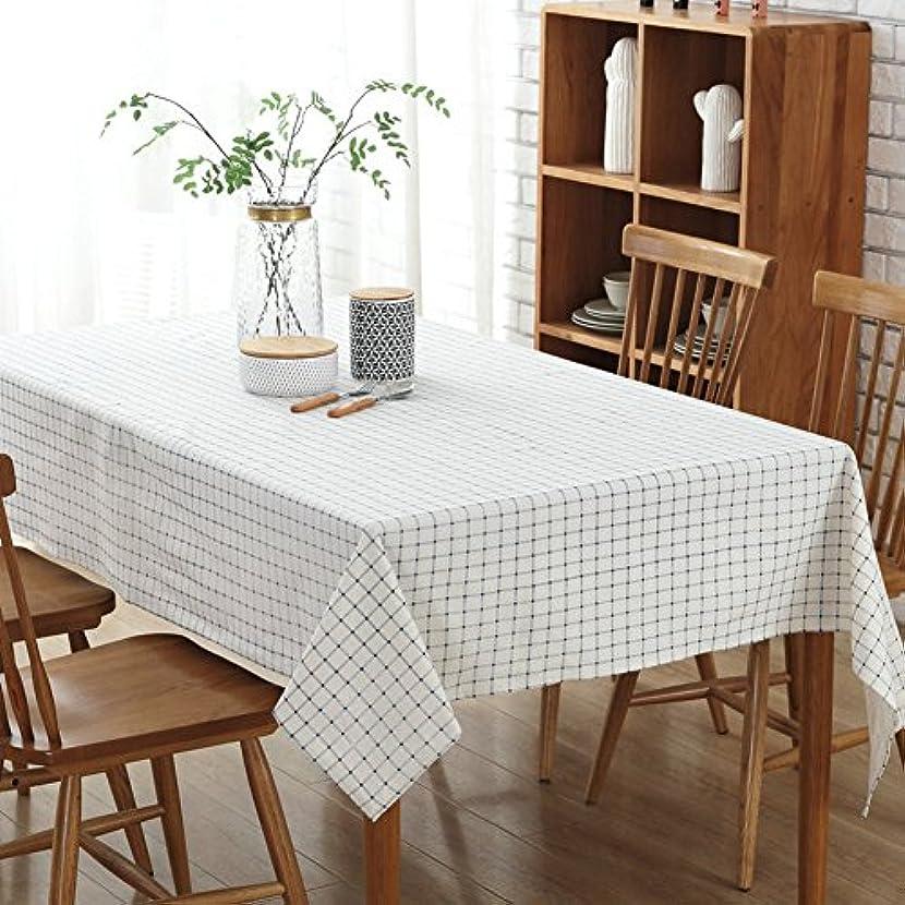 氏気になる出版洗濯機で洗える格子縞のテーブル クロス,四角形?長方形 テーブル トップ カバー な 装飾 テーブルクロス-I 100x140cm(39x55inch)
