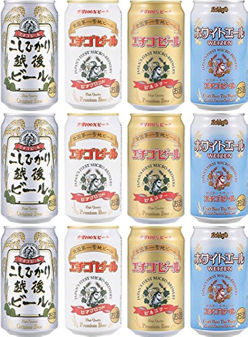 銃カッププロテスタント全国第一号地ビール エチゴビール12缶 4種飲み比べセット B