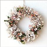 壁飾り リース ピンク かわいい ドライフラワーリース コーラル [cov3604]