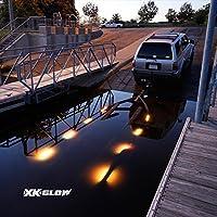 8個または12個 高品質 ボートトレーラー LEDライト 水路 ドック ローディングライト 防水 マルチカラー リモートコントロール PREMIUM 12 piece XK074010