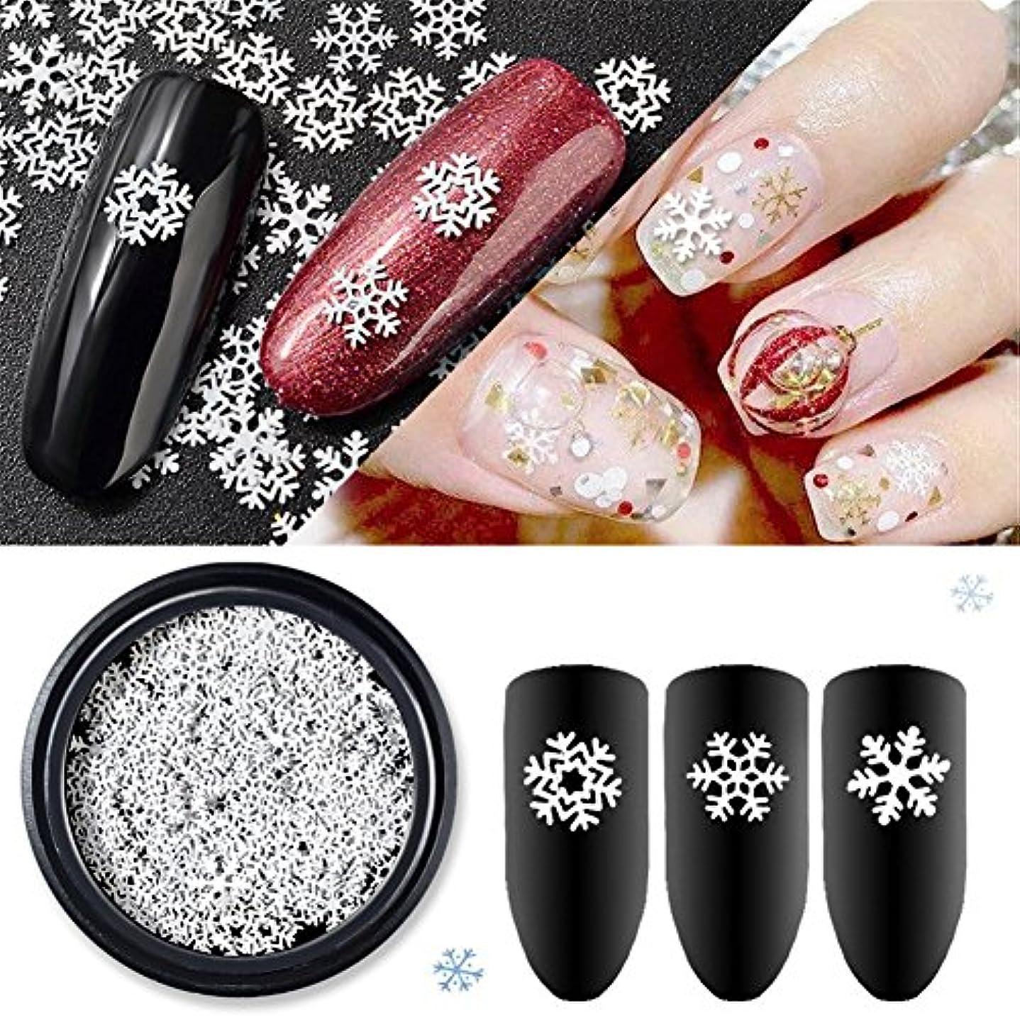 ランドリーホステルしょっぱい雪の結晶  冬ネイル 雪花 クリスマス  ネイルパーツネイルデコレーションジェルネイル ネイルアート