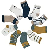 Toddler Sock Girl Boy Cotton Socks Cute Cotton Socks Baby Pattern Soft Comfy Ankle Socks 10 Pairs