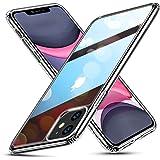 ESR iPhone 11 ケース ガラスケース 強化ガラス+TPUバンパーアイホン11 カバー 【9H硬度加工 薄型 全透明 黄変防止 安心保護 耐衝撃 ワイヤレス充電対応 安心保護】ストラップホール付き 6.1インチ iPhone 11 專用スマ