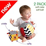 MACIK Soft infant toys SET 2 - Baby sensory toys Development toys 6-12 month baby toys - Baby ride on toys activity GYM toys