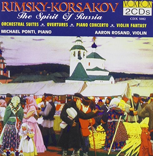RIMSKY KORSAKOV:Invisible City of Kitezh, Mlada, May Night Overture, Christmas Eve Suite No. 2 Overture on Russian Themes, Sadko, Musical Picture, Piano Concerto in C sharp minor, Concert Fantasy for Violin and Orchestra