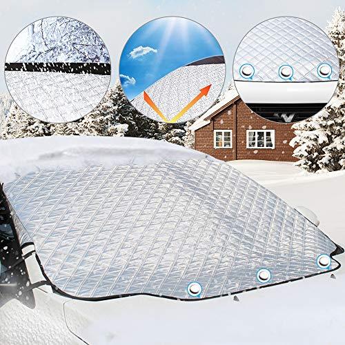 Aodoor フロントカバー 車 サンシェード 183*116cm 凍結防止 雪対策 四季用 遮光 落葉対策 防水材料 厚手 SUV車/車種汎用 フロント保護カバー