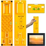 Picture Hanging Tool, Picture Frame Hanger Tool with Level Ruler Picture Hanger Wall Hanging Kit Measuring Tool Suitable for