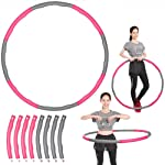 Yescom Detachable Hoop Foam Padded Circle Waist Slimming Weight Loss Fitness Exercise Grey