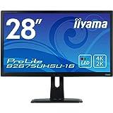 マウスコンピューター iiyama 4K モニター ディスプレイ B2875UHSU-B1B (28型/1ms(ゲーム向け)/TN非光沢/4K/DP,HDMI,DVI-D,D-Sub/昇降多機能スタンド)