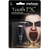 Mehron Makeup Tooth FX with Brush for Special Effects, Halloween, Movies (.125 oz) (Black) (packaging may vary)