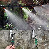 灌漑ホース ガーデンウォーターキット ガーデン ドリップ散水 自動水やり 芝温室 マイクロ 灌漑システム プラント給水ホース ノズルスプリンクラー 使用便利 取り外し簡単 (25M)