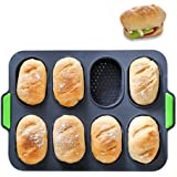 PDJW Silicone Baking Pan, Silicone Bread Pans for Baking, Mini Loaf Pan, Bunt Cake Pan & Bread Pan for Various Types of Homem