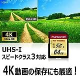 【Amazon.co.jp限定】 Transcend SDXCカード 64GB UHS-I U3対応 (最大読込速度95MB/s,最大書込速度60MB/s) U3シリーズ 4K動画撮影 無期限保証 TS64GSDU3E (FFP)_02