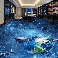 Wuyyii 壁に大きな壁紙カスタムホームインテリア宇宙銀河地球3 Dフローリングの壁紙キッチンの壁画3 D-280X200Cm